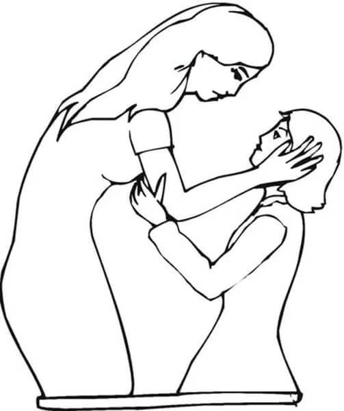 Çocukların Çizimleri Anneler Günü: Paper'da Anne İçin Sevginizi Ekspres Risunok Na Den Materi 18