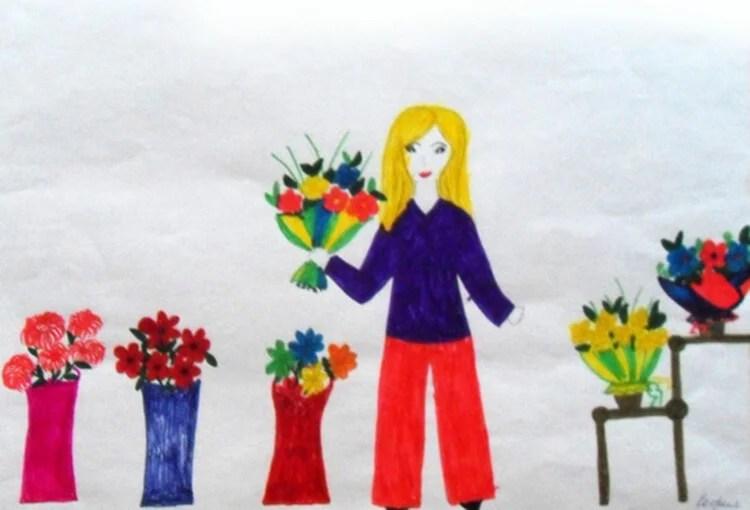 Çocukların Anneler Günü için Çizimleri: Paper'da Anne İçin Sevginizi Ekspres Risunok Na Den Materi 52