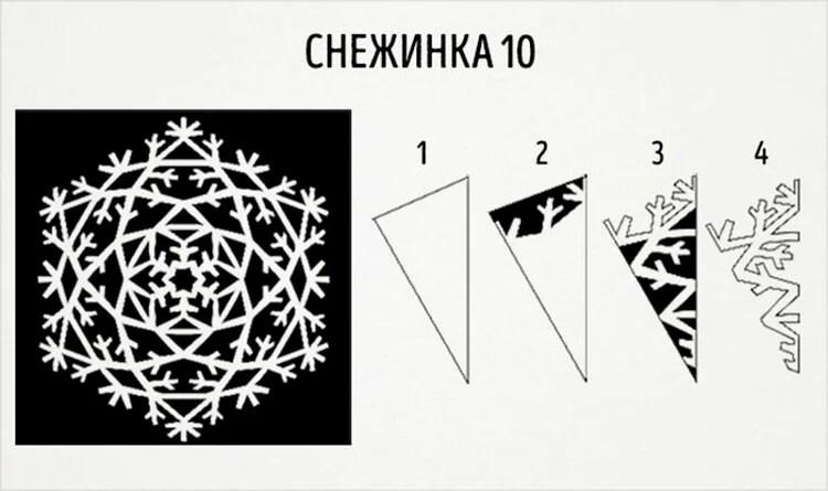 新年美丽的原始雪花:创建自己的手,模板与照片Snezhinki Iz Bumagi Svoimi Rukami 18