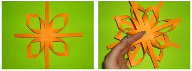 新年美丽的原始雪花:创建自己的手,模板与照片Snezhinki Iz Bumagi Svoimi Rukami 43