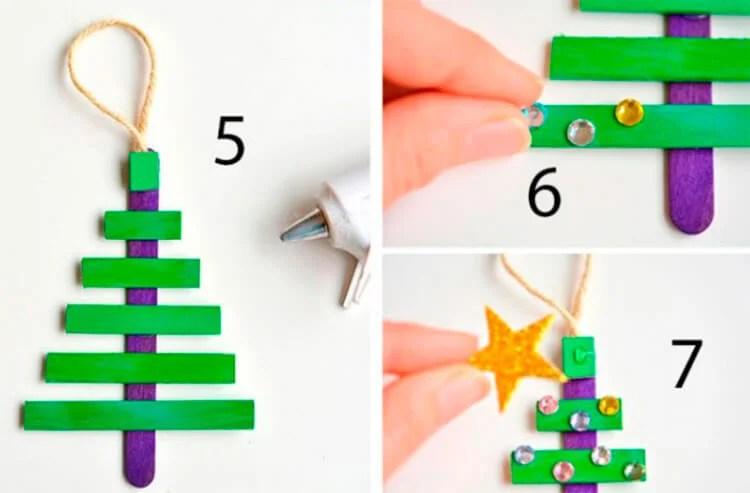 Julgranleksaker på julgran med egna händer: Vad kan göras för det nya året Elochnaya igrushka svoimi rukami 31