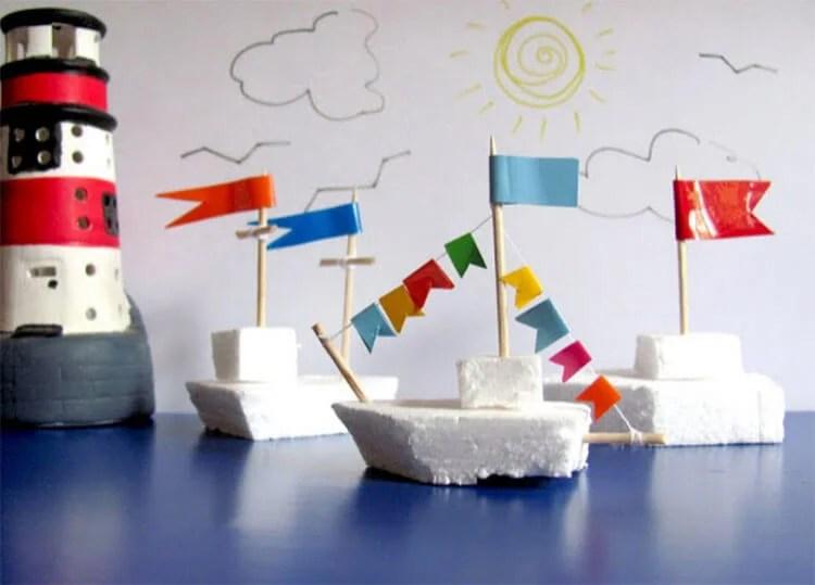 船舶为儿童:使用方案创建的各种方式和描述Korabl Svoimi Rukami 101