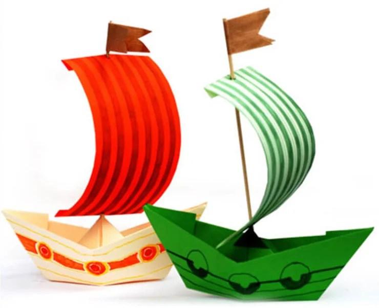 儿童船:使用方案创建的各种方式和描述Korabl Svoimi Rukami 16