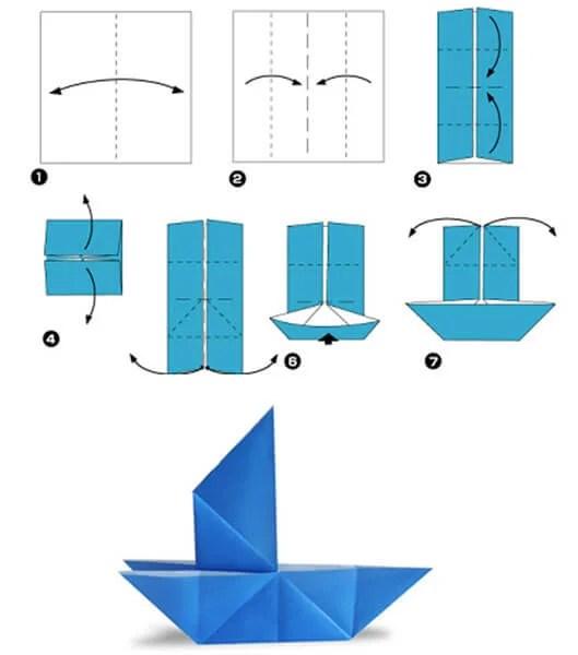 儿童船:使用方案创建的各种方式和描述Korabl Svoimi Rukami 27