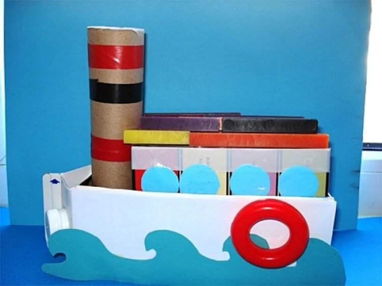 船舶为儿童:使用方案创建的各种方式和描述Korabl Svoimi Rukami 72