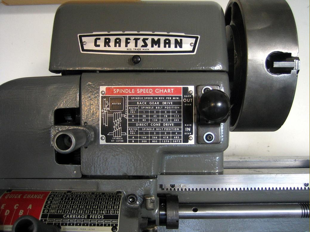 Craftsman Late Model 12 Quot Lathe