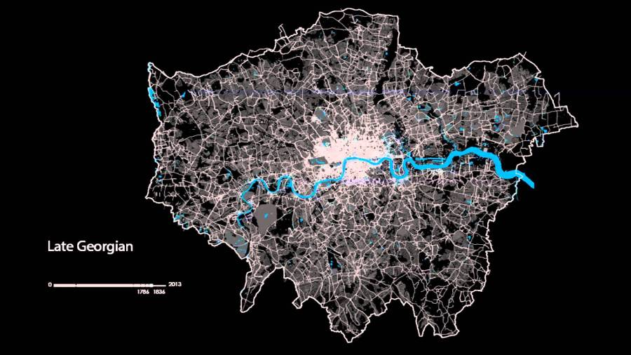The London Evolution Animation   2 000 Years of London History      The London Evolution Animation   2 000 Years of London History Visualized  on a Map