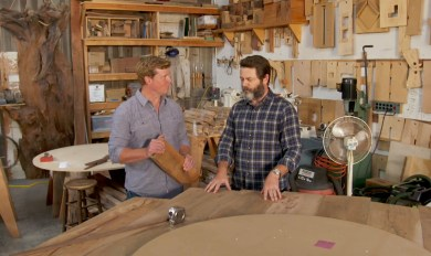 Nick Offerman Woodshop Tour Wooden Thing