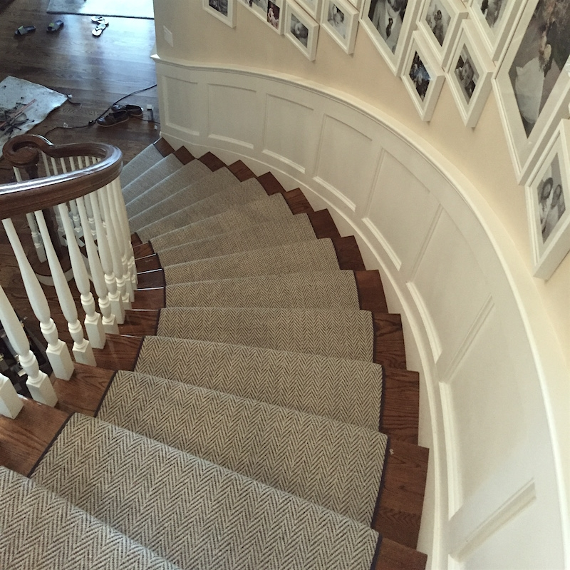 Stair Runners And The One Fiber You Should Never Use   Carpet Down Middle Of Stairs   Stair Rods   Wood   Hardwood   Steps   Laminate Flooring