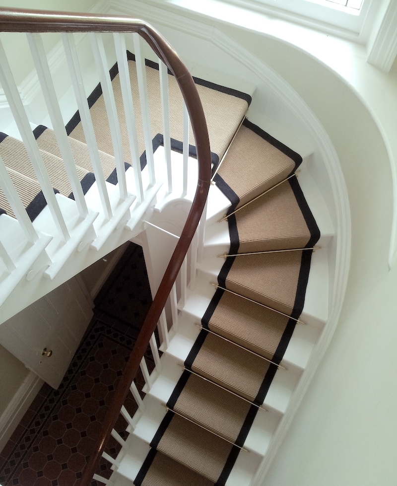 Stair Runners And The One Fiber You Should Never Use | Solid Color Stair Runners | Modern Stair | Stair Carpet Runner | Washable | Rubber Backed | Self Adhesive