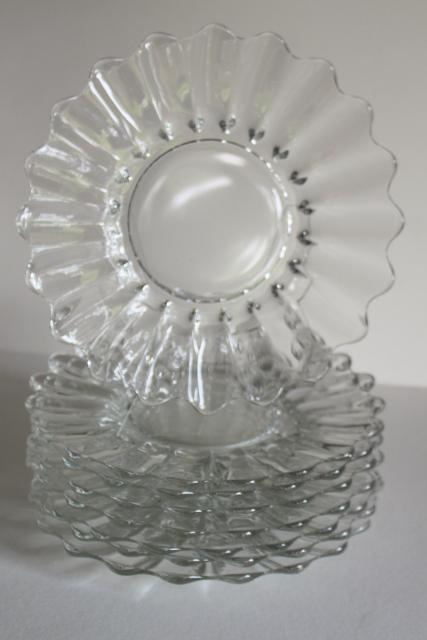 Vintage Heisey Crystolite Crystal Clear Glass Salad Or