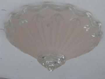 Laurel Leaf Farm search results for   vintage pink   white glass lamp shade for pendant light fixture  ceiling  lighting