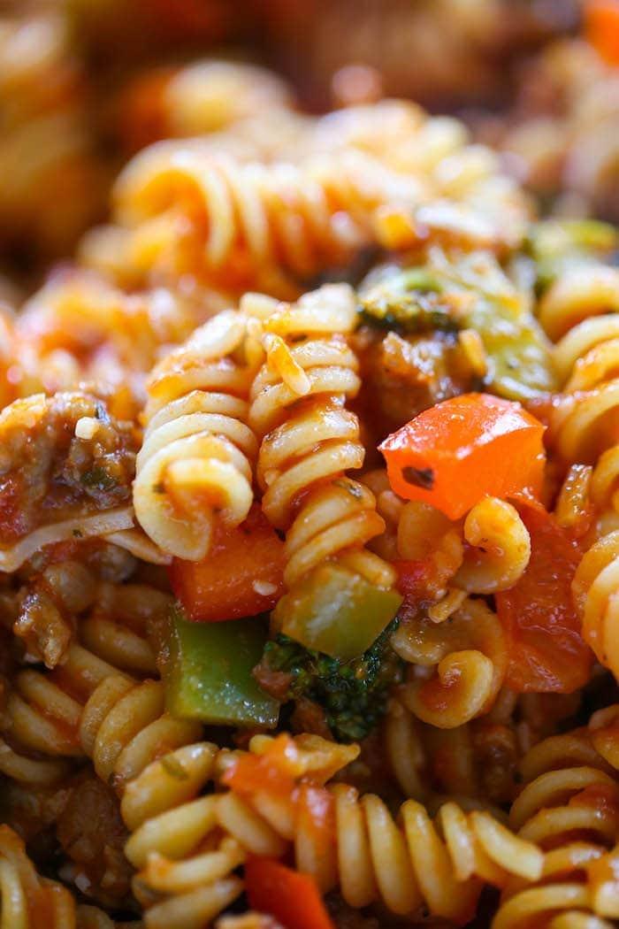 Italian Sausage Peppers Zucchini Pasta