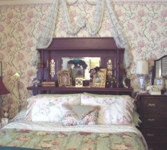 Antique Fireplace Mantle Headboard      lavenderpathantiques com Blog Finished Project