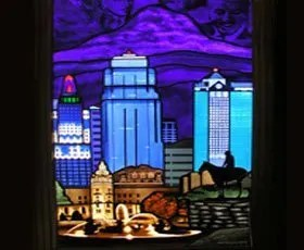 The Leaded Glass Studio Glass D 233 Cor Independence Mo