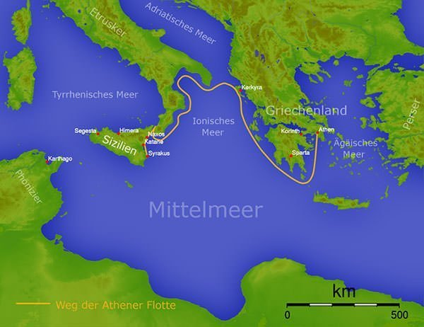 Athenian Map Spartan And War