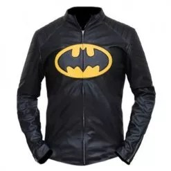 Batman Black & Yellow Leather Jacket