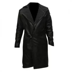 Blade Runner 2014 Black Leather Long Coat