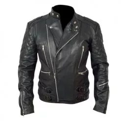 Brando Biker Black Leather Jacket