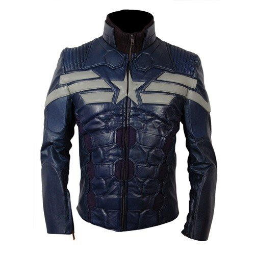 Captain America The Winter Soldier New Leather Jacket Costume 2014