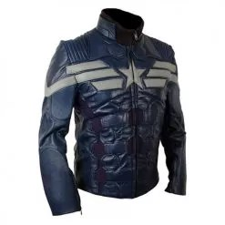 Captain America The Winter Soldier New Leather Jacket Costume 2014 2