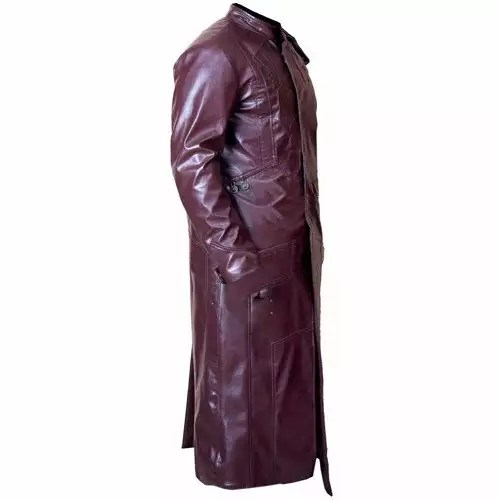 NEW STARLORD GUARDIANS OF GALAXY FAUX LEATHER LONG COAT 2