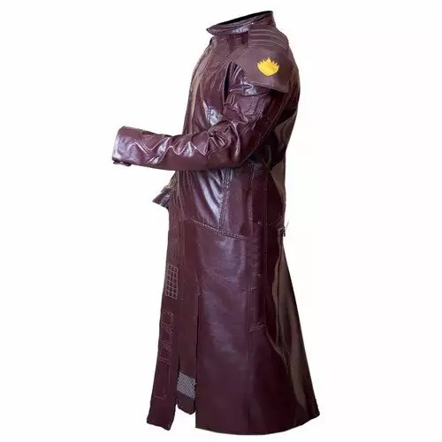 NEW STARLORD GUARDIANS OF GALAXY FAUX LEATHER LONG COAT 3