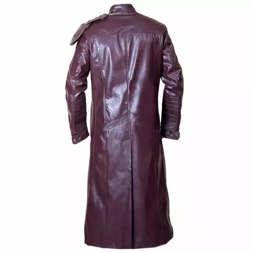 NEW STARLORD GUARDIANS OF GALAXY FAUX LEATHER LONG COAT 4