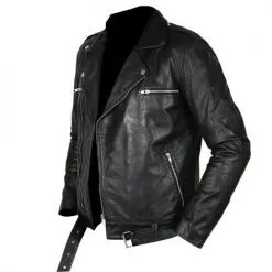 Negan Walking Dead Black Biker Leather Jacket 3