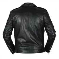 Negan Walking Dead Black Biker Leather Jacket 5