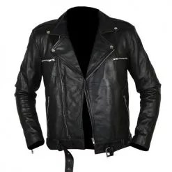 Negan Walking Dead Black Biker Leather Jacket 6
