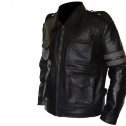 Resident Evil 6 Black Faux PU Leather Jacket 2