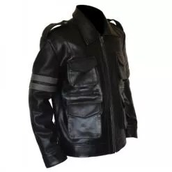 Resident Evil 6 Black Faux PU Leather Jacket 3