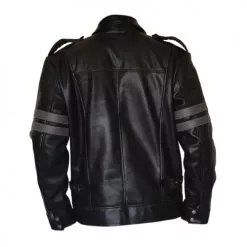 Resident Evil 6 Black Faux PU Leather Jacket 4