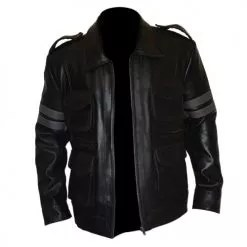 Resident Evil 6 Black Faux PU Leather Jacket 5