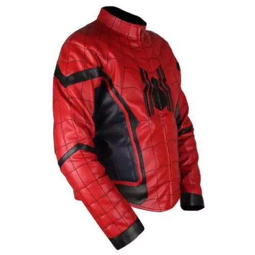 Spider-Man Homecoming Red & Dark Blue Leather Jacket 3