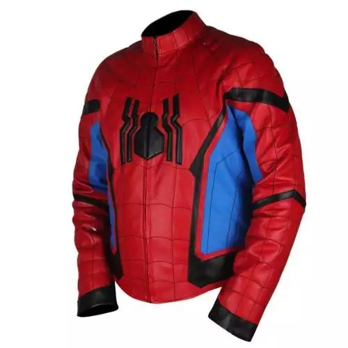 Spider-Man-Homecoming-Red-Light-Blue-Leather-Jacket2