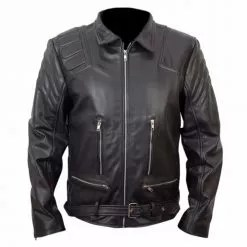Terminator 3 T3 Black Biker Leather Jacket