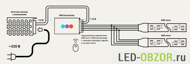 Hur man ansluter en LED-remsa med egna händer enligt schemat