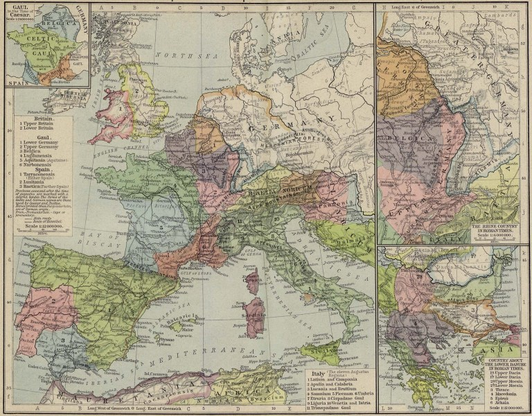Historical Atlas by William R  Shepherd   Perry Casta    eda Map     Reference Map of the European Provinces of the Roman Empire