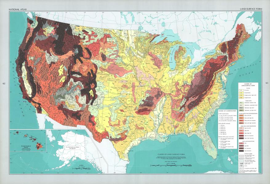 The National Atlas of the United States of America  Perry Casta    eda     PHYSICAL LANDFORMS