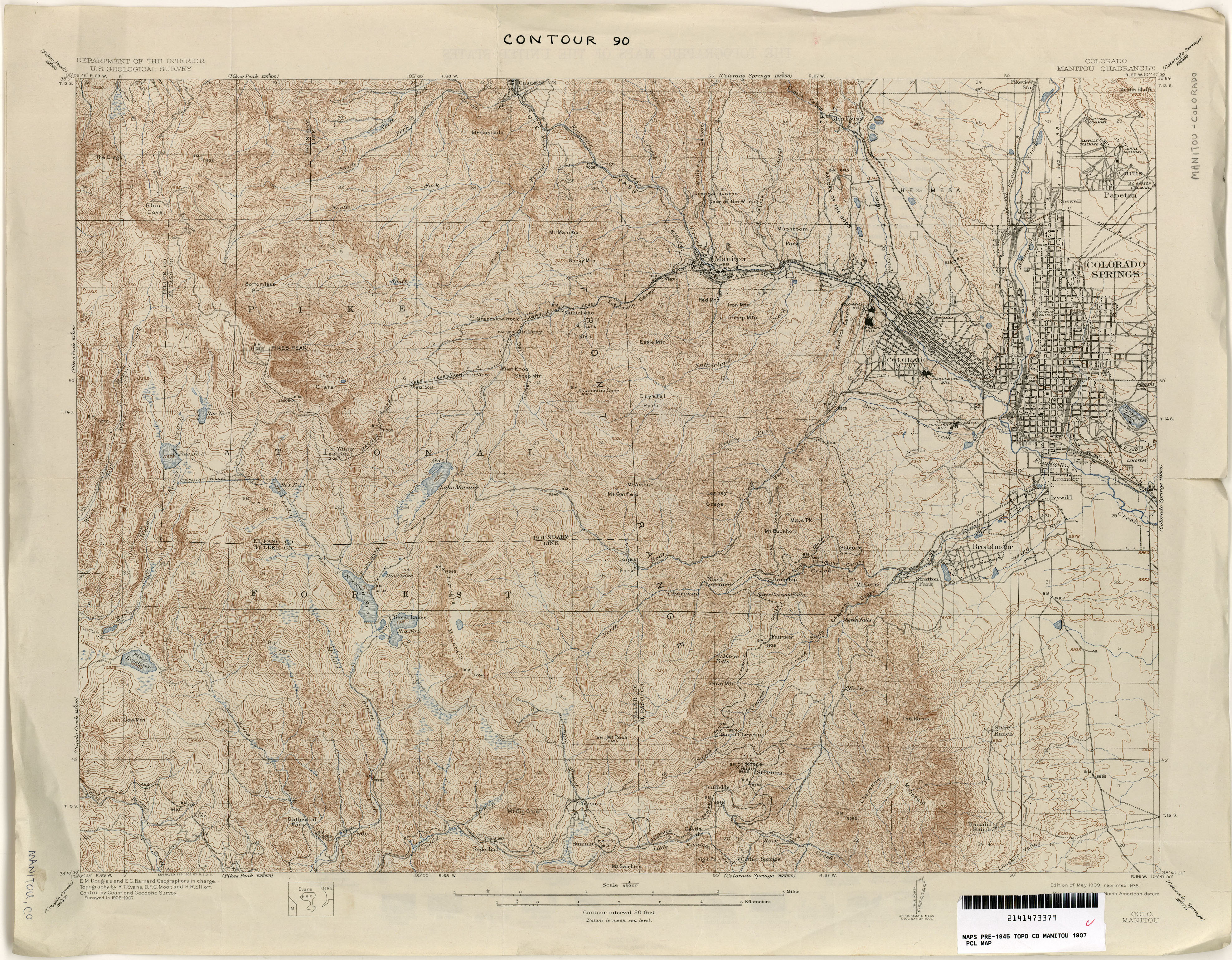 Colorado Historical Topographic Maps   Perry Casta    eda Map     Colorado Historical Topographic Maps