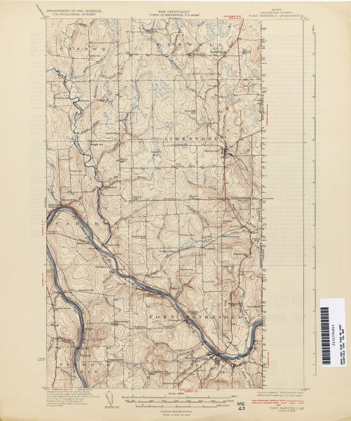Maine Historical Topographic Maps   Perry Casta    eda Map Collection     Maine Historical Topographic Maps