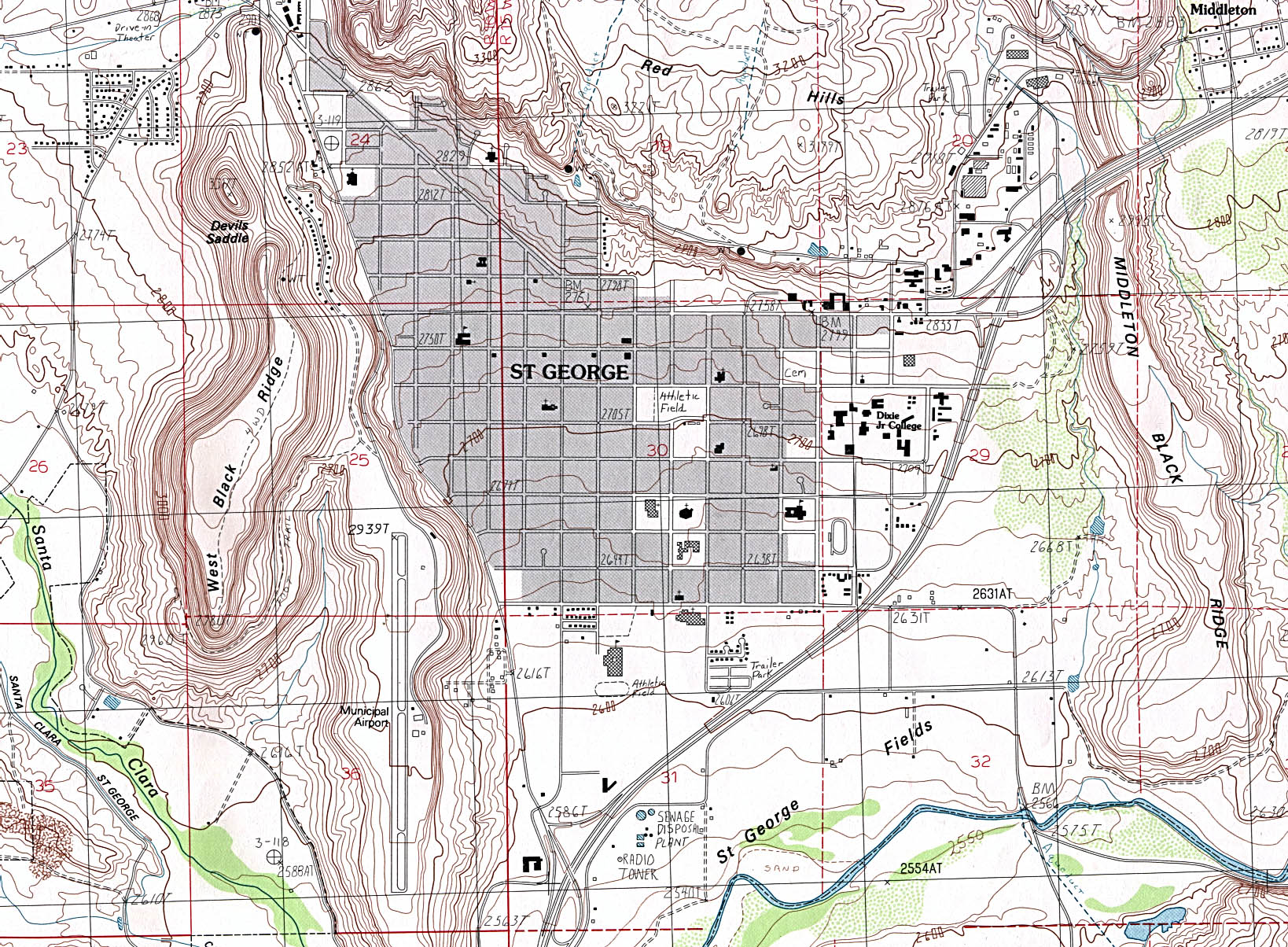 Streets St George Utah Map