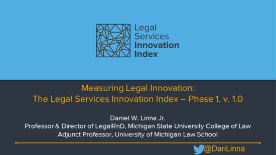 Lean Canvas   LegalTech Lever Measuring Law Firm Innovation  Legal Services Innovation Index Preview at   LegalHack2017