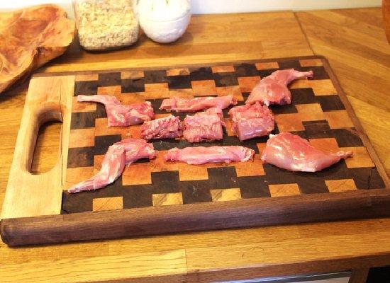 Carcasse de lapin en forme