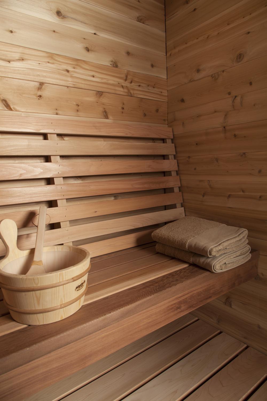 Indoor Red Cedar Cabin Sauna Dundalk Canada Barrel