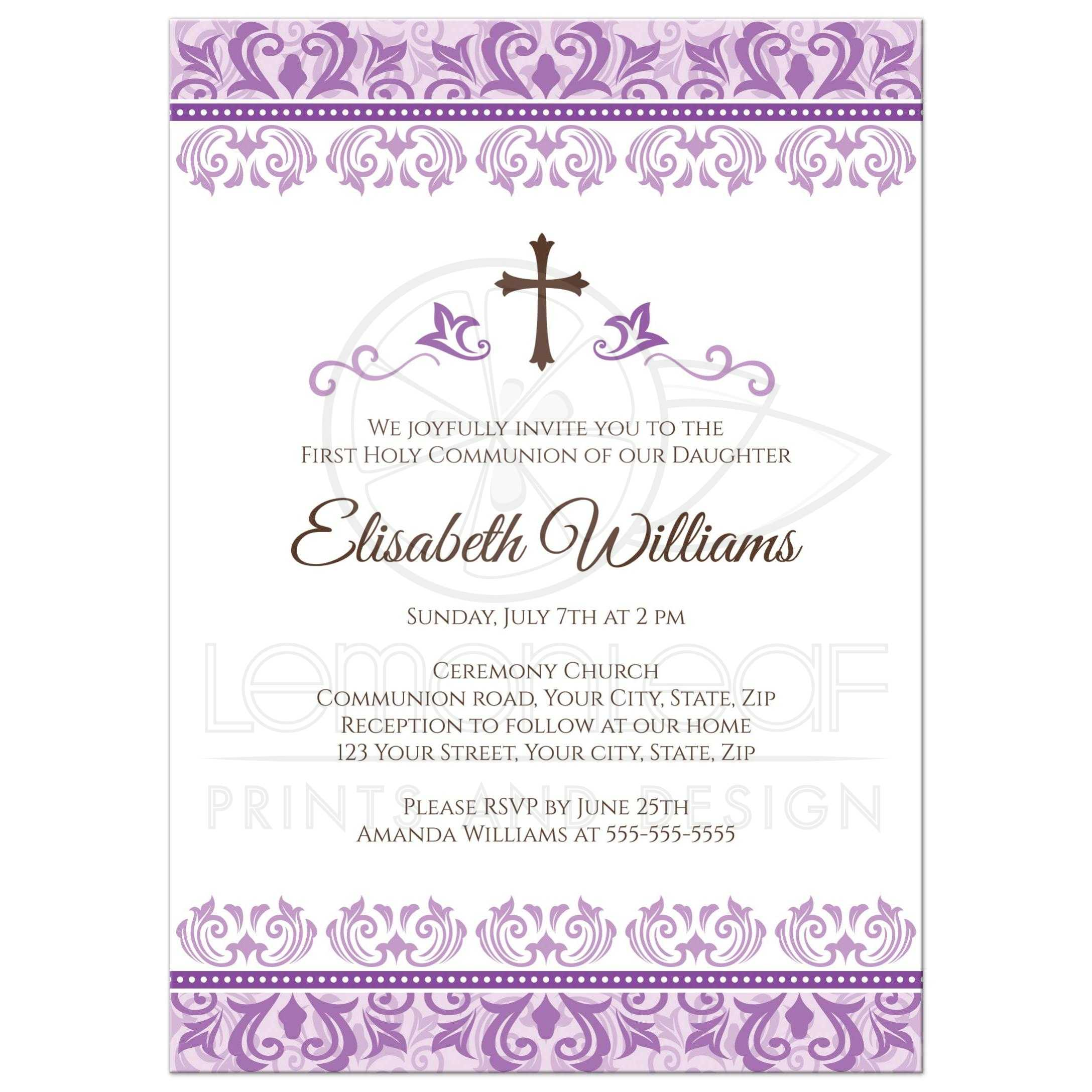 Pink And Gold Christening Invitations