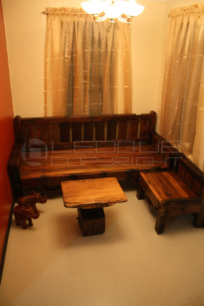 Reproduction Antique Look Set L Shaped Daybed Bench Set