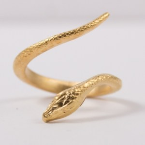 Bague snake or rose by M    lanie   Bague snake Bague serpent dor          l or rose by M    lanie